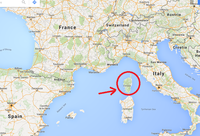 Closer To Italy Owned By France Of CORSE of CORSE Larry The