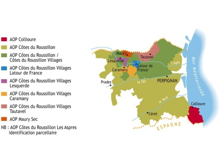 Cotes Du Rousillon Map