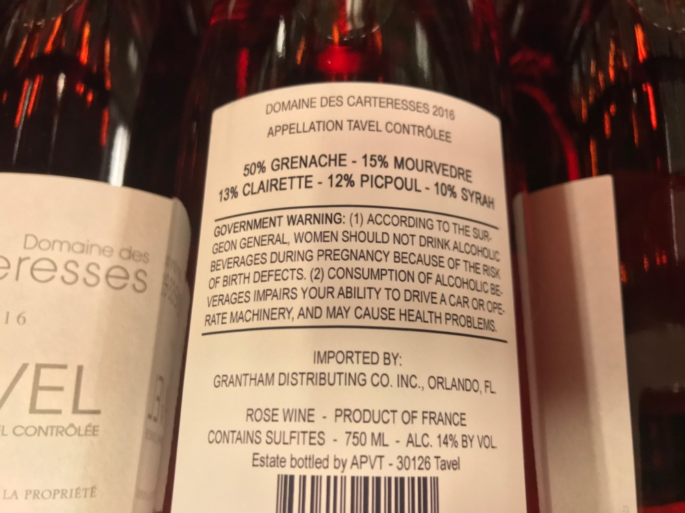 Carteresses Rear Label