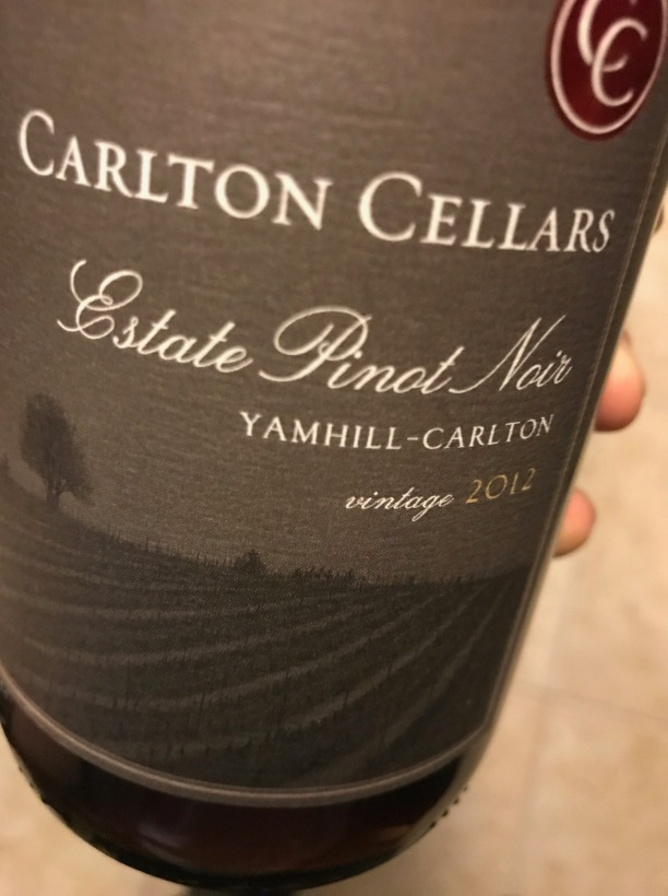 Carlton Cellars Pinot Front Label