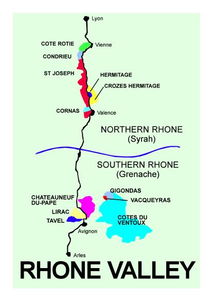 Cornas Map
