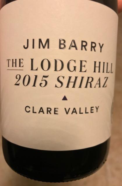 Jim Barry Shiraz Front