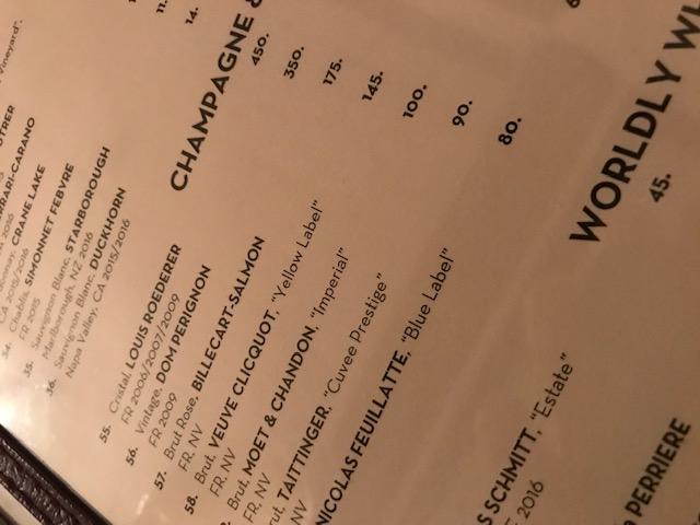 byob champagne list