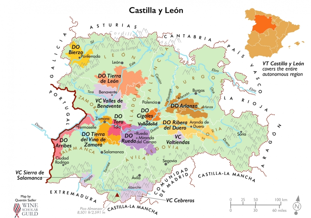 Mencia Wine Map